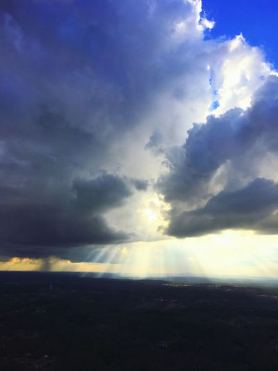 Sun imprisonment Aerial Shot Aerial View Cloud - Sky Sky Beauty In Nature Nature Tranquility Scenics Tranquil Scene Sunlight Outdoors Day Landscape