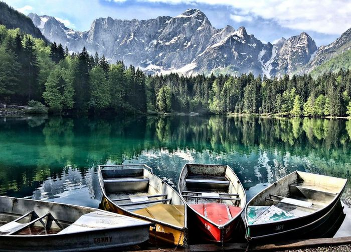 Laghi di Fusine Water Mountain Lake Reflection Scenics - Nature Tree Nature No People Outdoors Mountain Range Day Beauty In Nature First Eyeem Photo