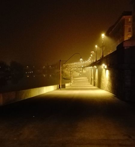 Night Illuminated Lighting Equipment Christmas Lights Water Indoors  Bridge - Man Made Structure No People Sky Architecture Outdoors Turin Street Torino Urban Urban Landscape Cold Scary Italy Horrortoyphotography Horror Night Ghost Ghost Signs  City Evening Light