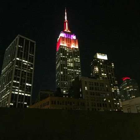 Empire State Building 34th Street  New York City Night Photography