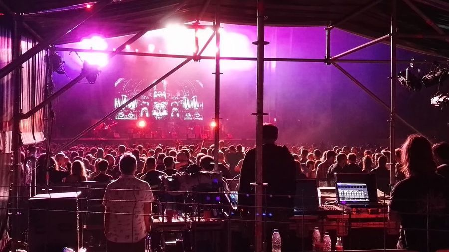 City Life Concert Crowd Fun Illuminated Leisure Leisure Activity Lifestyles Lighting Equipment Night Nightlife People Dancing People Listening People Singing Sky