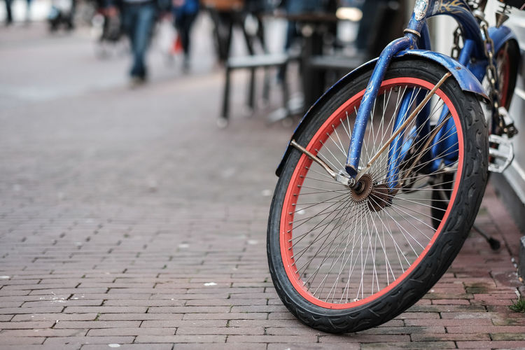 Close-Up Of Bicycle On Street
