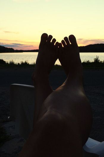 Toes!!! POV Of Dee Northern Ontario Sunset_collection Beautiful Sunset Barefoot