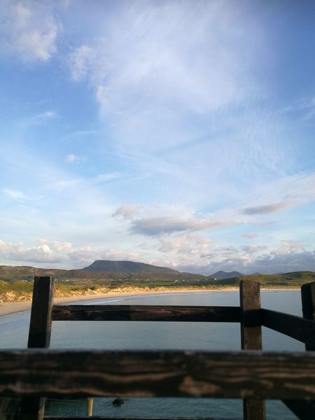 Muckish Mountain Cloud - Sky Wood - Material Sea And Sky Sea View Gate Beach Sunset Blue No People Outdoors Horizon Over Water