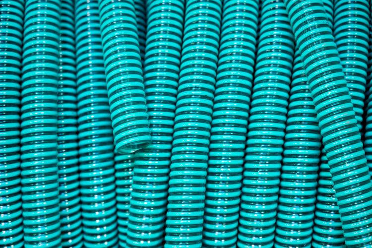 Full frame shot of green tubing
