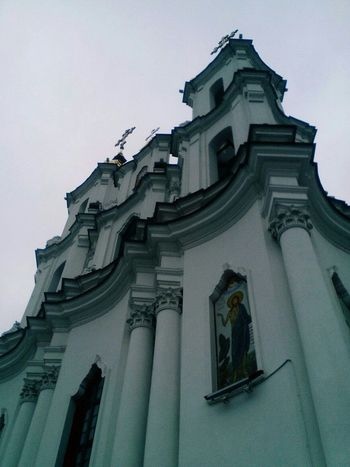 Architecture Religion Built Structure Sky No People Building Exterior Travel Destinations Low Angle View Outdoors Place Of Worship Day Photoshop Beautiful History Sunshine Nice Day Free грусть Sad природабелоруси First Eyeem Photo грустно Природа небо облака облака