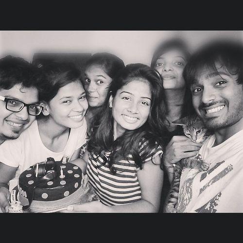 H A P P I N E S S is selfie with siblings :) Selfie Siblings Birthdaynight Masti happiness