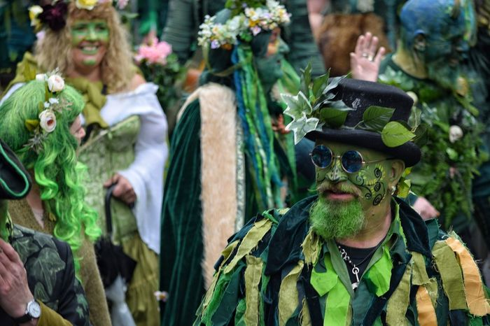 Jack In The Green Festival Jack In The Green Hastings East Sussex May Day 2017 May Day Pagan Parade Pagan Festival Green Color Scarecrow Close-up Only Men People Men Adult Day Outdoors May Devil Cultures Disguise Arts Culture And Entertainment Carnival Spirit Performing Arts Event