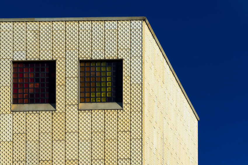 Berlin Architecture Architecture Blue Building Exterior Built Structure Clear Sky Day Low Angle View No People Outdoors Sky Window