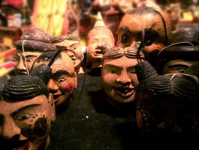 Creepy Exotic HEAD Marionettes Puppet Puppets