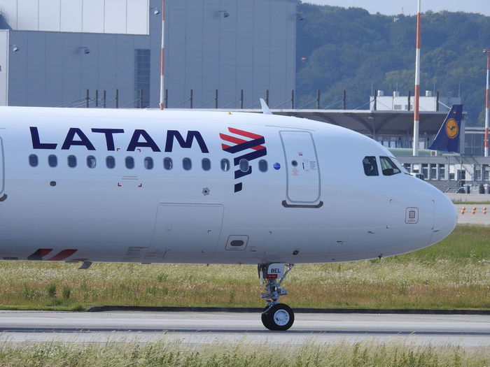 LATAM A321 CC-BEL CC-BEL LatAm Transportation Air Vehicle Mode Of Transportation Airplane Airport Travel Day Airport Runway Outdoors Aerospace Industry Finkenwerder Airbus Aircraft Wing Aircraft