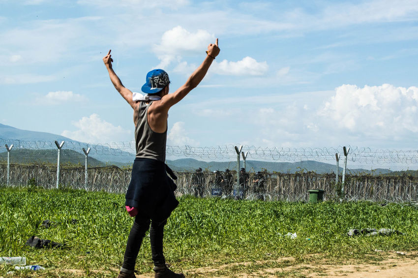 Border Borders Crisis Demonstration Fence Fight Humanitarian Photojournalism Protest Refugee Refugees Social Syrian