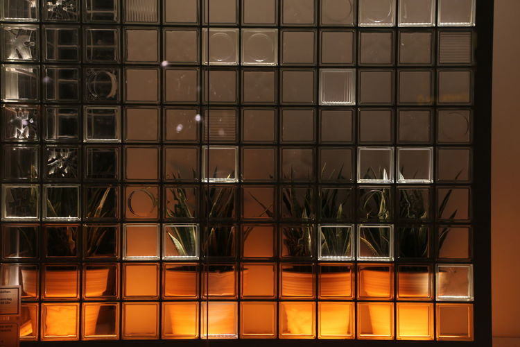 Backlight Backlit Close-up Full Frame Geometric Shape Glass Stones Light And Shadow Night No People Wall Wall - Building Feature Water Window
