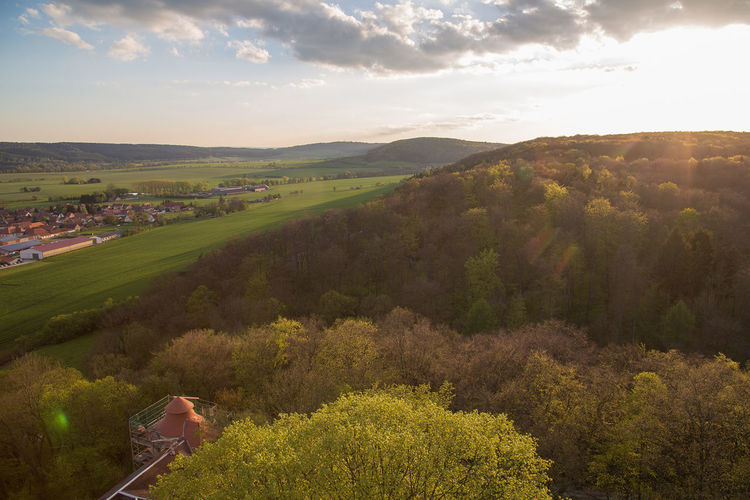 Landscape_Collection Sunset_collection Thuringen Thuringia Agriculture Architecture Beauty In Nature Cloud - Sky Day Field Grass Growth Landscape Landscape_photography Mountain Nature No People Outdoors Rural Scene Scenics Sky Tranquil Scene Tranquility Tree View From Above