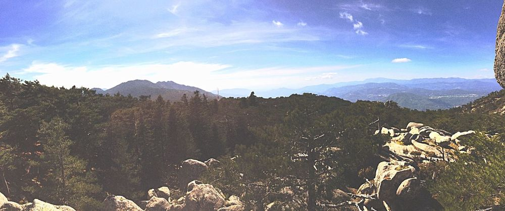 Promenade Copines Vue Panoramic Corse Montagne