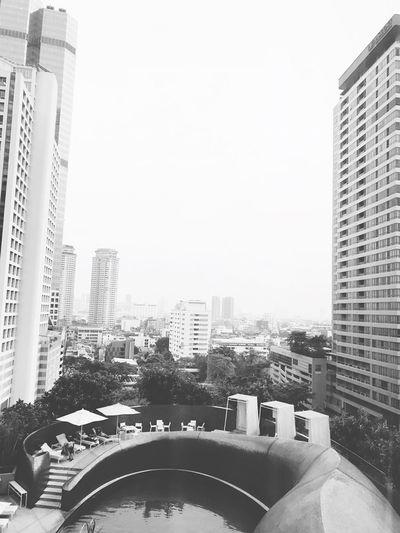 IG Sobabyalienz Photo By IPhone7plus BabyAlienZ Swimming Pool Window W Hotel Bangkok Skyscraper City Day City Life Modern Clear Sky Sky