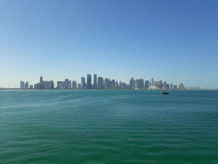 Cityscape Water Blue Sea Urban Skyline