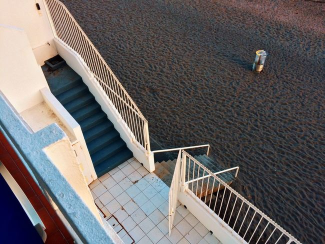 High Angle View Staircase Steps And Staircases Railing Steps Architecture Built Structure No People