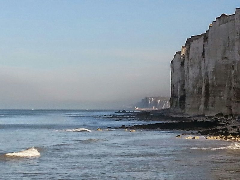 Normandie, France Falaises La Plage Beautiful Nature Soleil Janvier2015 Brume