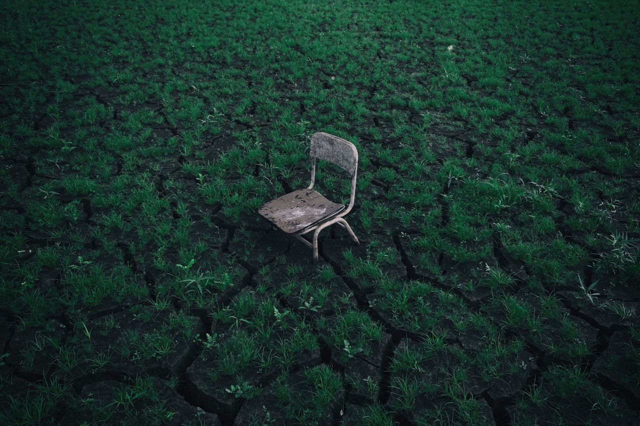 Beauty In Nature,  Chair,  Cracked,  Day,  Drought