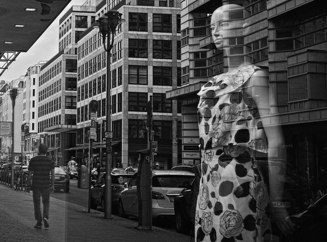 Detail Flowers and Stripes Window Reflections Blackandwhite Monochrome Streetphoto_bw Why Don't We Do It In The Road? Don't Leave Me
