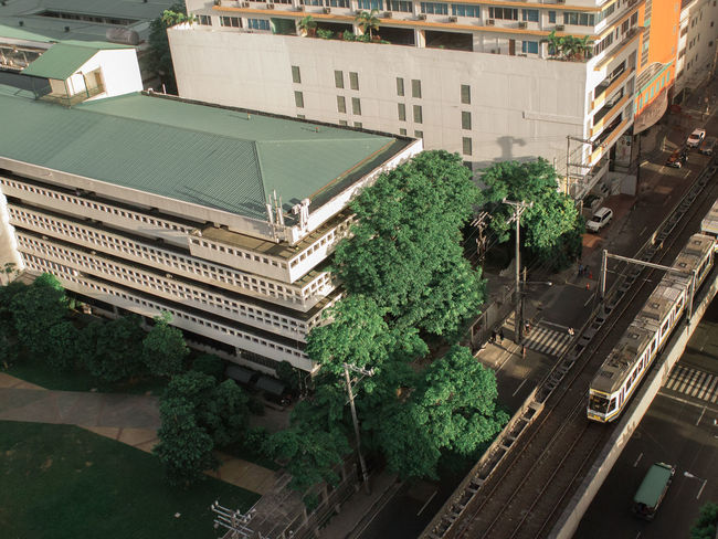 Melon view City High Angle View Architecture Building Exterior Tree Day Aerial View Built Structure Train LRT Taftavenue Eyeem Philippines Olympus OLYMPUS PEN E-P3 Neighborhood Map EyeEm Best Shots