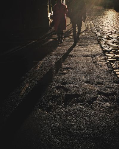 A rare moment of light Shillouette Manchester Stifanibrothers Shadow Walking Real People Sunlight Low Section Men Outdoors Day Streetwise Photography