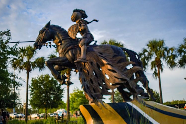 Art Is Everywhere Statue Campus Art Collegecampus Low Angle View Mascot Bronzed Horse Theme