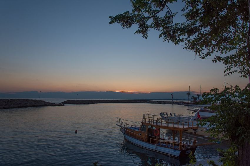 Sunset in Mediterranean Colors Of Nature Sunset Nautical Vessel Sunset Tranquility Outdoors Nature Sea Beauty In Nature Water No People Sky Scenics