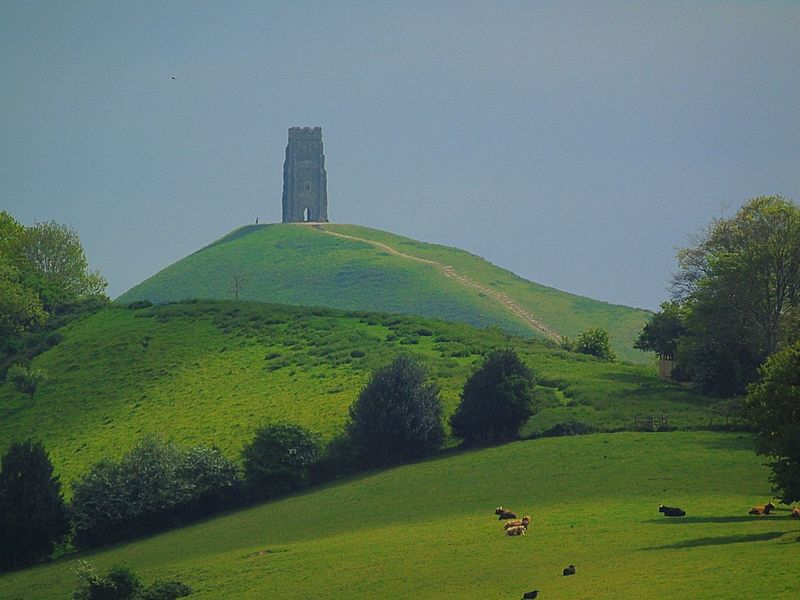 Green Color Travel Destinations Field Architecture Built Structure Nature Tourism Tranquil Scene Tranquility No People Outdoors Day Beauty In Nature Landscape Tree Clear Sky Sky Scenics Grass Growth Glastonbury Tor Countryside Rural Scene Hill Green Color