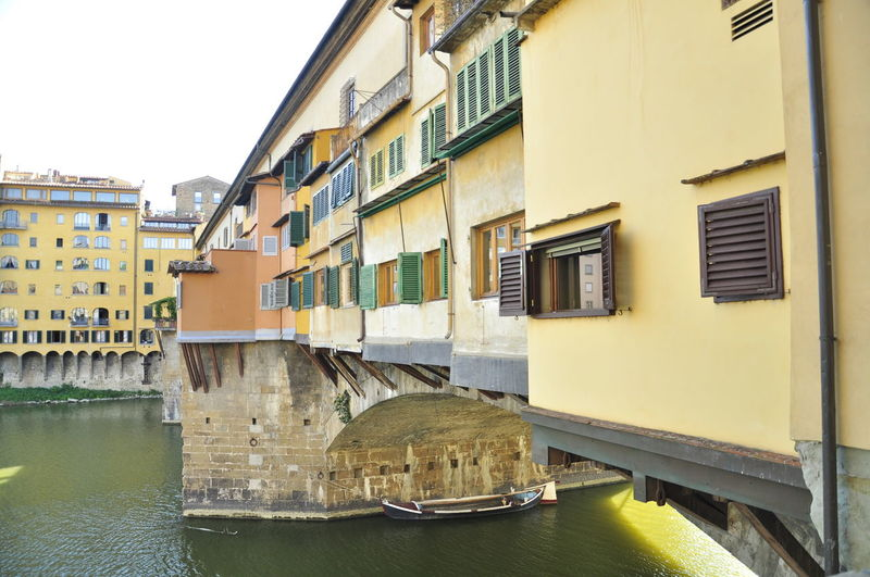View of canal in florence