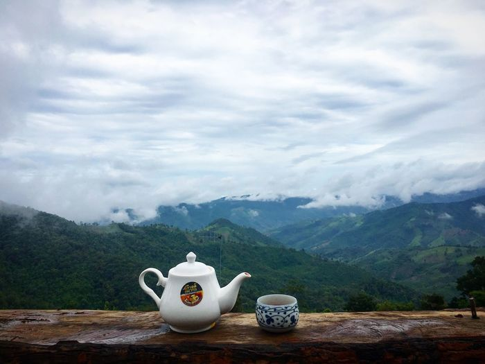 Tea time Cloud - Sky Tea - Hot Drink Hot Drink Cup Tea Mug Drink Tea Cup Teapot Refreshment Crockery Beauty In Nature Sky Food And Drink Mountain Nature