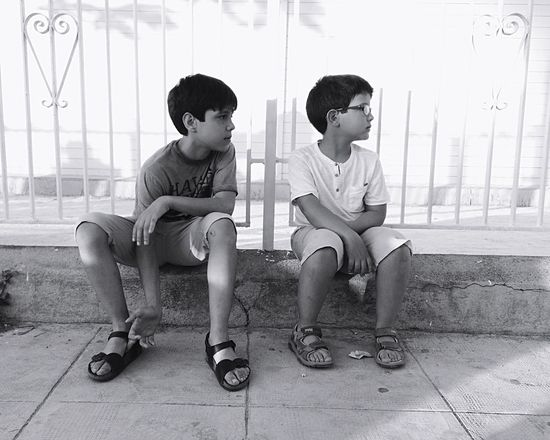 Childhood Child Males  Look Seated Watch Look At  Children Only Full Length Friendship Brothers EyeEm Selects Stories From The City