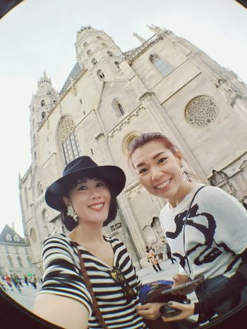 Two People Smiling Adult Young Adult Togetherness Young Women Adults Only Happiness Friendship Only Women Low Angle View Tourism Travel Destinations People Vacations Outdoors Cheerful Women Portrait Leisure Activity