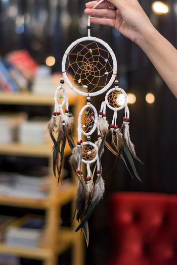 Art And Craft Body Part Close-up Craft Craft Product Creativity Decoration Dreamcatcher Feather  Finger Focus On Foreground Hand Hanging Holding Human Body Part Human Hand Indoors  Luck One Person Real People Religious Equipment Spirituality EyeEmNewHere