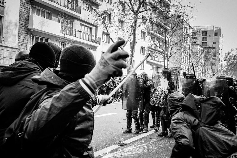 Yesterday, more than 30,000 people took to the streets in Paris alone to protest the loielkhomri while thousands more across the country. And while there are reports surfacing up right now accusing the police of brutality, I must also point out that all sides involved yesterday are guilty of exaggerated violence, not just the police. And yes, that includes a group within the protesters too. At times, it is unfair and unjust to simply point our fingers at one direction without realising our own faults. If there is anything that I learned from this episode, it is that anger will never do any good and does not solve the problems that we have. Manif9Avril LoiTravail Reportagespotlight Loitravail Manif9avril Reportagephotography Demonstration Streetphoto_bw Protest Riot Street Photography Black And White The Photojournalist - 2016 EyeEm Awards