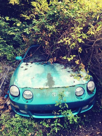 The Week On EyeEm sad car left behind to rot Abandoned Run-down Weathered Mode Of Transport Bad Condition Damaged Scrap Metal Growth Outdoors