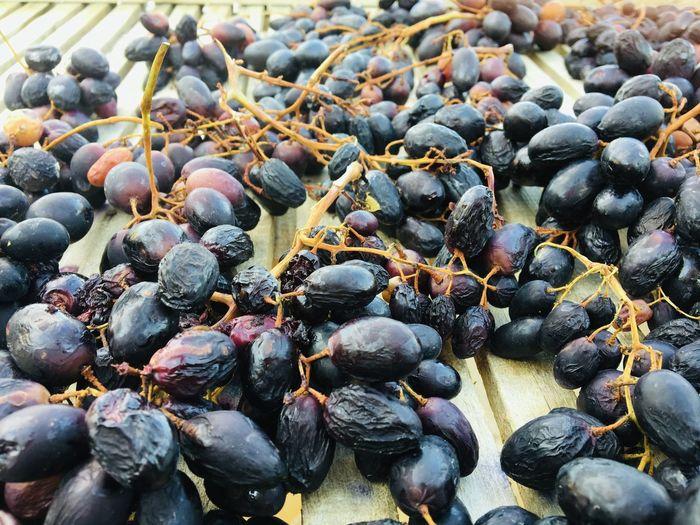 Black grape on