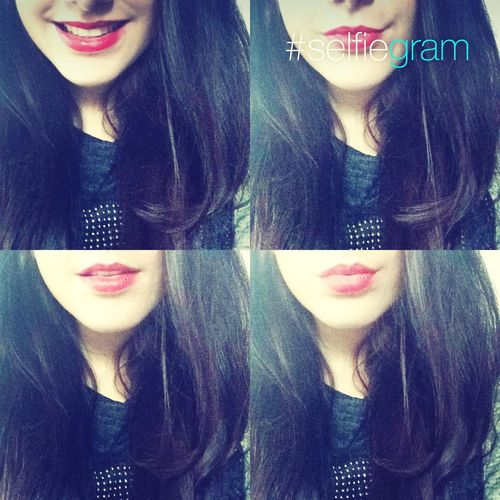 Love <3 RedlipsLipstick Me#smile#myhair#swag#lol#hahaha#love#the#person#who#have#a#super#smile#