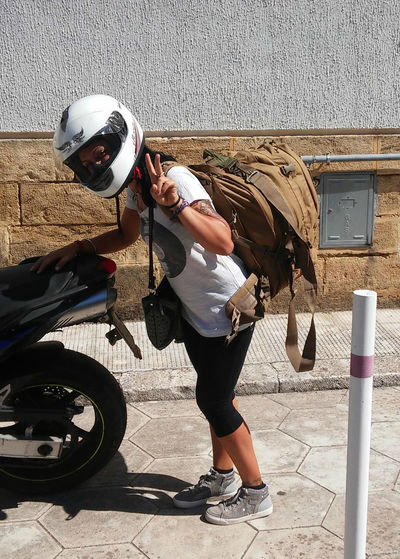 Balance Bikers Heavy Holidays Real People Rucksack Summertime People Adventure The Tourist Women Around The World