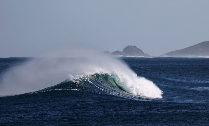 Wave & Rock South West Australia Sugar Loaf Rock Water Ocean Sea Water Power In Nature Crashing Wave Surf