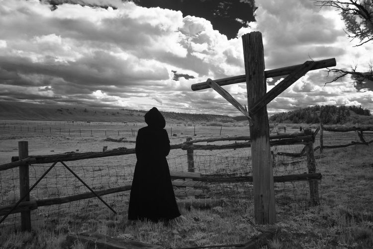 What Was (No. 3) Cross Crucifix Colorado Death Drama Dramatic Sky EyeEmNewHere Field Ghost Infrared Ranch Abandoned Blackandwhite Cloak Cloud - Sky Fantasy Haunted Landscape Monochrome Mystery Rurex Scary Spooky Time Wide Open Spaces