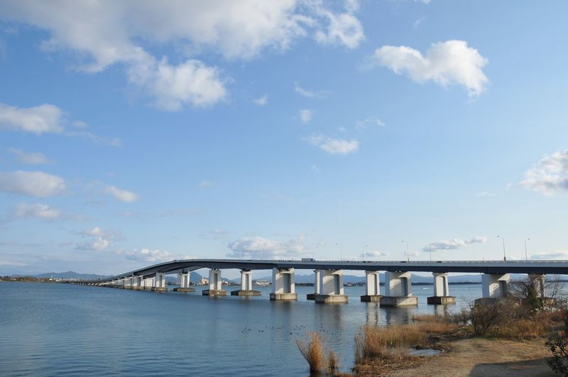 Bridge - Man Made Structure Connection Engineering Transportation Architecture Cloud - Sky Sky Built Structure Water No People Bridge Outdoors Day