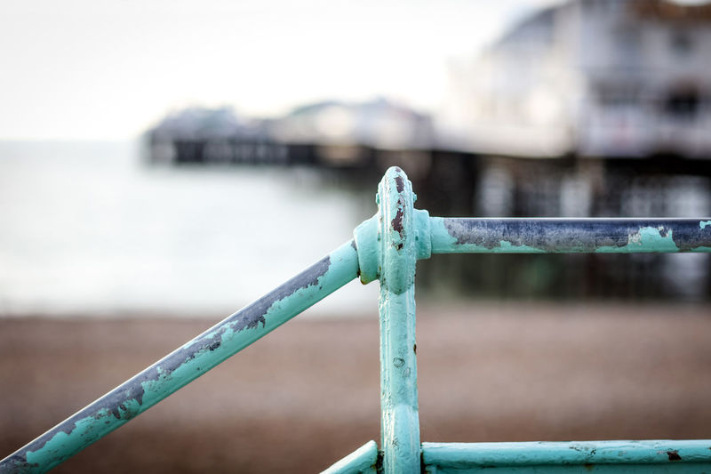 Railing Railing Brighton Brighton Beach Brighton Pier Brighton Uk Brighton And Hove Ballustrade Beachphotography Beach Seaside Water Day No People Metal Safety Outdoors Built Structure Barrier Architecture Travel Travel Destinations