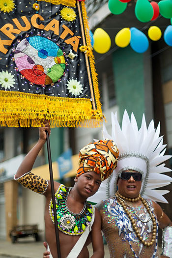 Bandeira Brazil Arts Culture And Entertainment Bonding Carnaval Carnaval2018 Celebration Day Estandarte Front View Happiness Leisure Activity Lifestyles Looking At Camera Multi Colored Outdoors Performance Porta Bandeira Real People Smiling Standing Togetherness Two People Young Adult Young Women