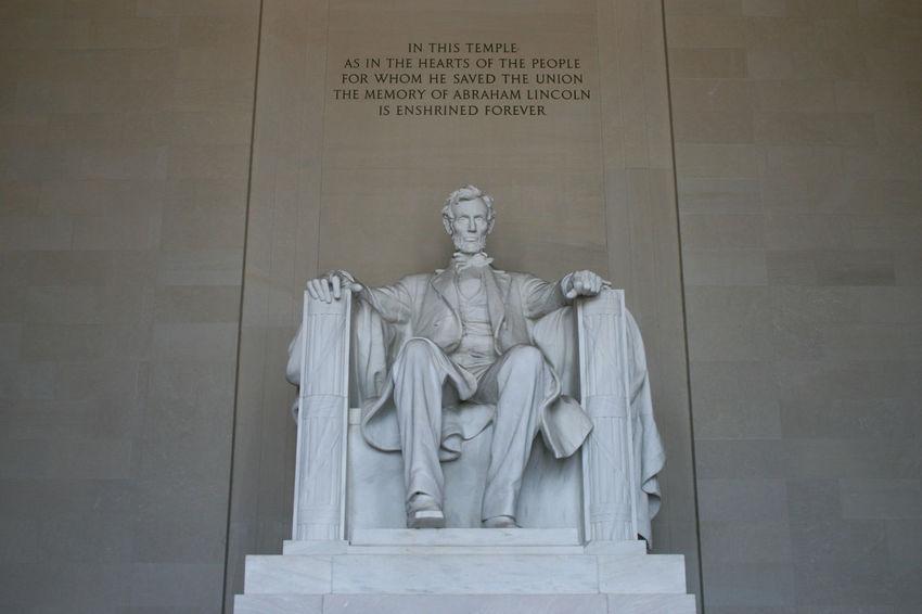 Lincoln Memorial, statue of Abraham Lincoln Abraham Lincoln Statue Lincoln Memorial Memorial President USA United States Washinton Historical Menoment National Mall Sculpture