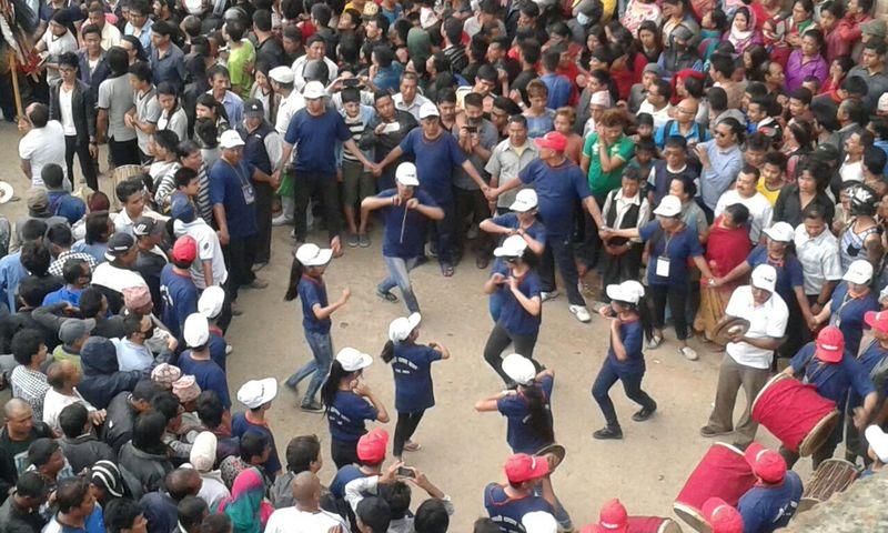 Dancing Ladies Crowd Nepalipeople😊 Newariculture Nepal Travel