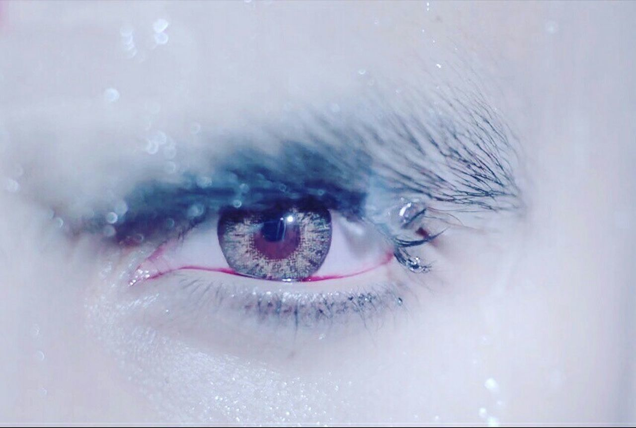 human eye, human body part, looking at camera, one person, close-up, eyesight, portrait, eyelash, sensory perception, eyeball, eyebrow, people, adult, day