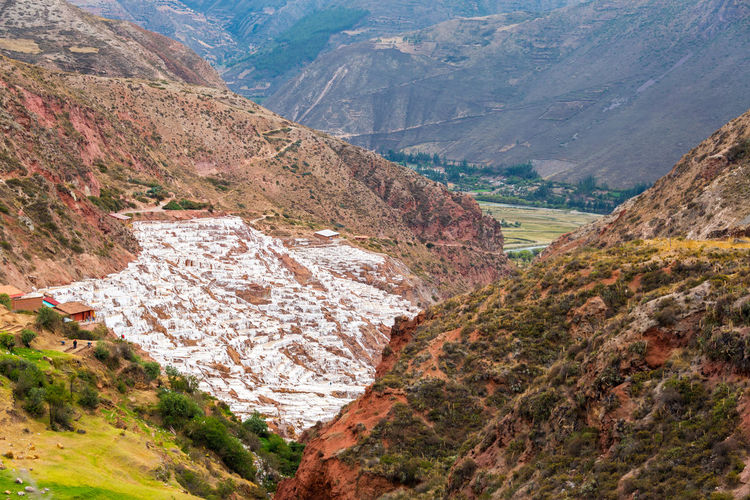 Scenic view of mountains at sacred valley
