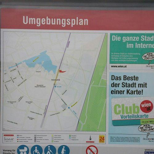 Umgebungsplan bei UbahnStation Seestadt Aspern